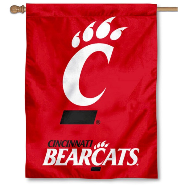 University of Cincinnati Banner Flag is a vertical house flag which measures 30x40 inches, is made of 2 ply 100% polyester, offers screen printed NCAA team insignias, and has a top pole sleeve to hang vertically. Our University of Cincinnati Banner Flag is officially licensed by the selected university and the NCAA.