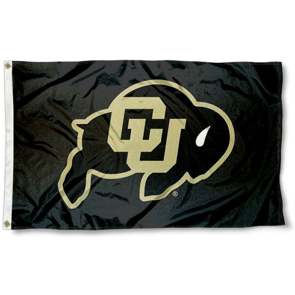 University of Colorado Flag measures 3'x5', is made of 100% poly, has quadruple stitched sewing, two metal grommets, and has double sided University of Colorado logos. Our University of Colorado Flag is officially licensed by the selected university and the NCAA