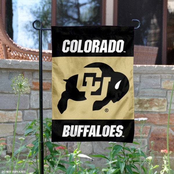 University of Colorado Garden Flag is 13x18 inches in size, is made of 2-layer polyester, screen printed University of Colorado athletic logos and lettering. Available with Same Day Express Shipping, Our University of Colorado Garden Flag is officially licensed and approved by University of Colorado and the NCAA.