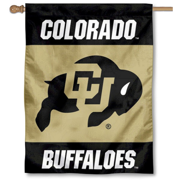 University of Colorado House Flag is a vertical house flag which measures 30x40 inches, is made of 2 ply 100% polyester, offers dye sublimated NCAA team insignias, and has a top pole sleeve to hang vertically. Our University of Colorado House Flag is officially licensed by the selected university and the NCAA
