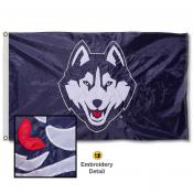 University of Connecticut Nylon Embroidered Flag