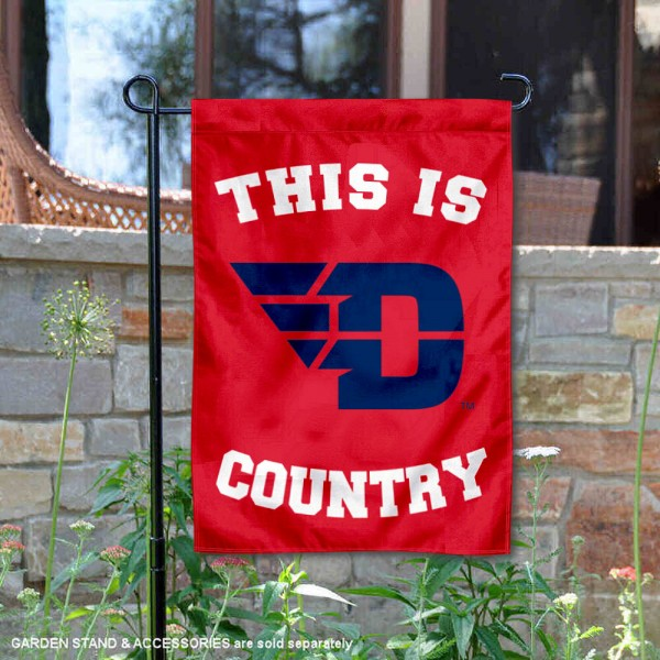 University of Dayton Country Garden Flag is 13x18 inches in size, is made of 2-layer polyester, screen printed university athletic logos and lettering, and is readable and viewable correctly on both sides. Available same day shipping, our University of Dayton Country Garden Flag is officially licensed and approved by the university and the NCAA.