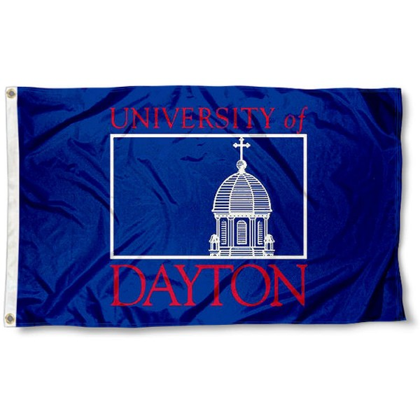 University of Dayton Insignia Flag measures 3'x5', is made of 100% poly, has quadruple stitched sewing, two metal grommets, and has double sided University of UD Flyers logos. Our University of Dayton Insignia Flag is officially licensed by the selected university and the NCAA.