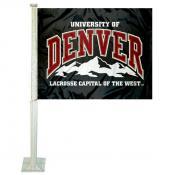 University of Denver Car Window Flag