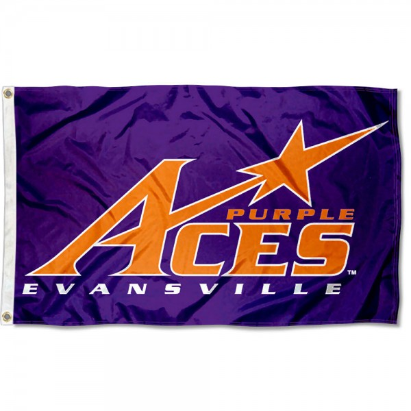 University of Evansville 3x5 Flag is made of 100% nylon, offers quad stitched flyends, measures 3x5 feet, has two metal grommets, and is viewable from both side with the opposite side being a reverse image. Our University of Evansville 3x5 Flag is officially licensed by the selected college and NCAA.
