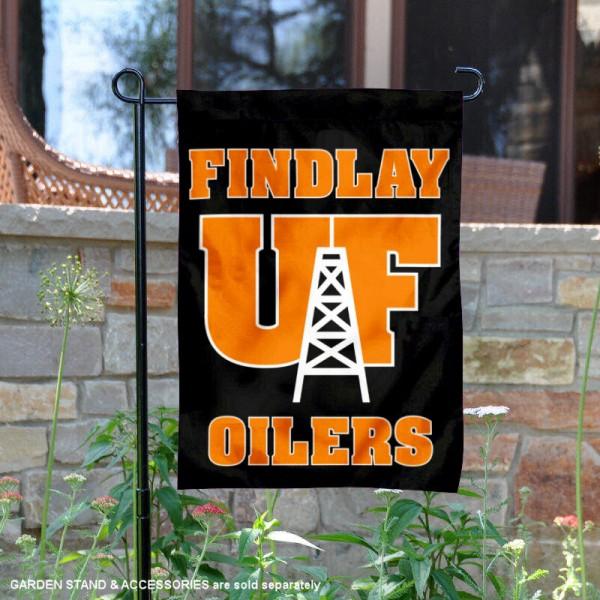 University of Findlay Garden Flag is 13x18 inches in size, is made of 2-layer polyester, screen printed university athletic logos and lettering, and is readable and viewable correctly on both sides. Available same day shipping, our University of Findlay Garden Flag is officially licensed and approved by the university and the NCAA.