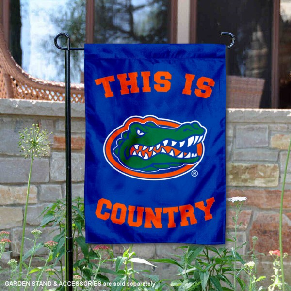 University of Florida Country Garden Flag is 13x18 inches in size, is made of 2-layer polyester, screen printed university athletic logos and lettering, and is readable and viewable correctly on both sides. Available same day shipping, our University of Florida Country Garden Flag is officially licensed and approved by the university and the NCAA.