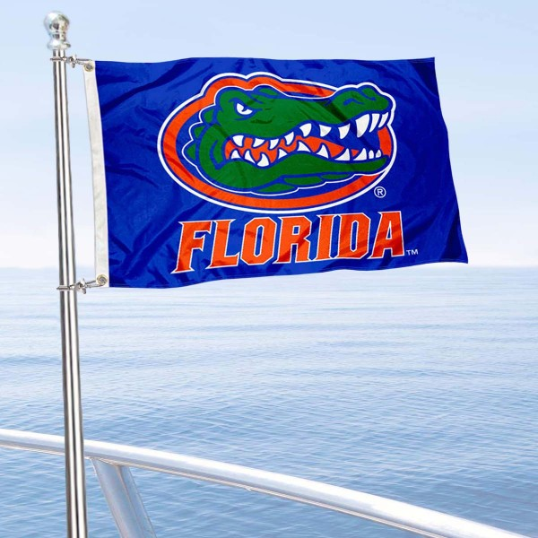 University of Florida Golf Cart Flag is a small 12x18 inches, made of 2-ply polyester with quad stitched flyends, and is double-sided. Our Golf Cart Logo Flags are Officially Licensed and Approved by Florida Gators and NCAA.
