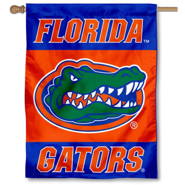 University of Florida House Flag is a vertical house flag which measures 30x40 inches, is made of 2 ply 100% polyester, offers dye sublimated NCAA team insignias, and has a top pole sleeve to hang vertically. Our University of Florida House Flag is officially licensed by the selected university and the NCAA