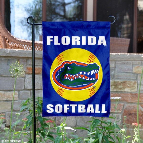 University of Florida Softball Yard Flag is 13x18 inches in size, is made of 2-layer polyester, screen printed UF Gators Softball athletic logos and lettering. Available with Same Day Express Shipping, Our University of Florida Softball Yard Flag is officially licensed and approved by UF Gators Softball and the NCAA.