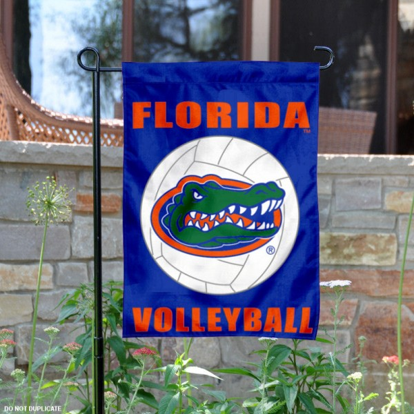 University of Florida Volleyball Yard Flag is 13x18 inches in size, is made of 2-layer polyester, screen printed Florida UF Gators Volleyball athletic logos and lettering. Available with Same Day Express Shipping, Our University of Florida Volleyball Yard Flag is officially licensed and approved by Florida UF Gators Volleyball and the NCAA.