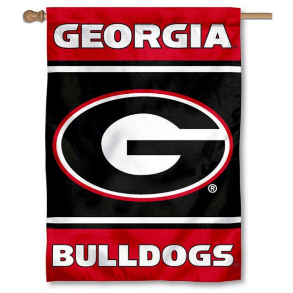 University of Georgia Bulldogs 2-Sided Home Flag is a vertical house flag which measures 28x40 inches, is made of 2 ply 100% nylon, offers screen printed NCAA team insignias, and has a top pole sleeve to hang vertically. Our University of Georgia Bulldogs 2-Sided Home Flag is officially licensed by the selected university and the NCAA.