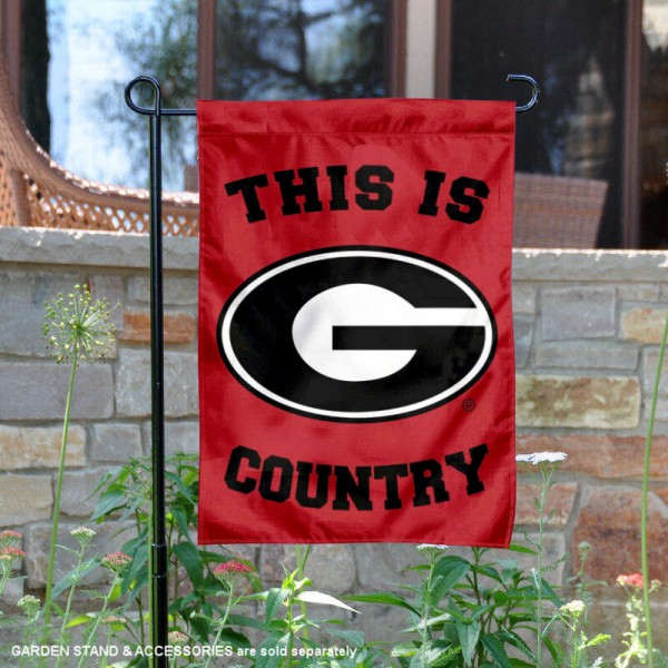 University of Georgia Country Garden Flag is 13x18 inches in size, is made of 2-layer polyester, screen printed university athletic logos and lettering, and is readable and viewable correctly on both sides. Available same day shipping, our University of Georgia Country Garden Flag is officially licensed and approved by the university and the NCAA.