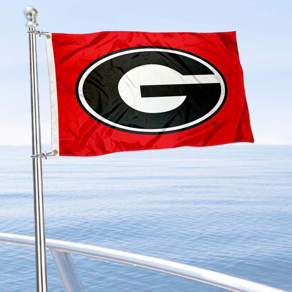 University of Georgia Golf Cart Flag is a small 12x18 inches, made of 2-ply polyester with quad stitched flyends, and is double-sided. Our Golf Cart Logo Flags are Officially Licensed and Approved by Georgia Bulldogs and NCAA.
