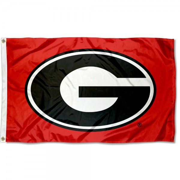 University of Georgia Polyester Flag measures 3'x5', is made of 100% poly, has quadruple stitched sewing, two metal grommets, and has double sided University of Georgia logos. Our University of Georgia Polyester Flag is officially licensed by the selected university and the NCAA
