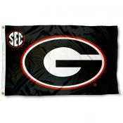University of Georgia SEC Logo Flag