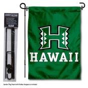 University of Hawaii Garden Flag and Stand