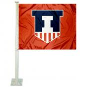 University of Illinois Car Window Flag
