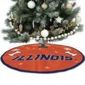 University of Illinois Fighting Illini Christmas Tree Skirt