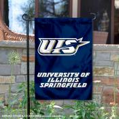 University of Illinois Springfield Prairie Stars Garden Flag