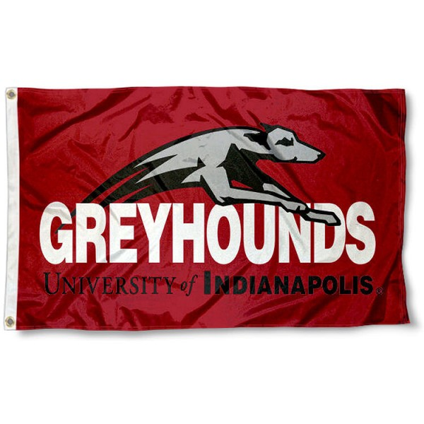 University of Indianapolis Greyhounds Logo Flag measures 3x5 feet, is made of 100% polyester, offers quadruple stitched flyends, has two metal grommets, and offers screen printed NCAA team logos and insignias. Our University of Indianapolis Greyhounds Logo Flag is officially licensed by the selected university and NCAA.