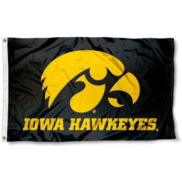 University of Iowa Hawkeyes Flag measures 3'x5', is made of 100% poly, has quadruple stitched sewing, two metal grommets, and has double sided University of Iowa logos. Our University of Iowa Hawkeyes Flag is officially licensed by the selected university and the NCAA.