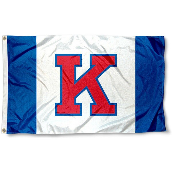 University of Kansas Big K Flag measures 3'x5', is made of 100% poly, has quadruple stitched sewing, two metal grommets, and has double sided Team University logos. Our University of Kansas Big K Flag is officially licensed by the selected university and the NCAA.