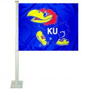 University of Kansas Car Window Flag