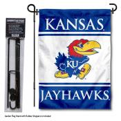 University of Kansas Garden Flag and Stand