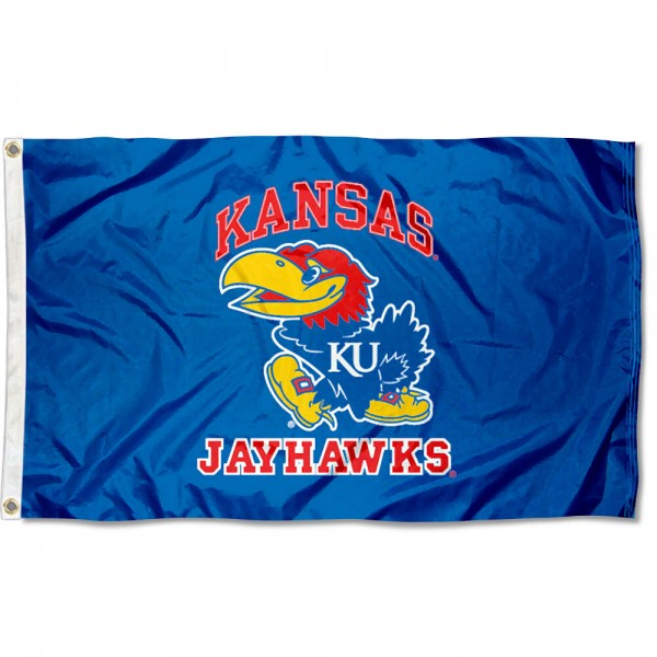 University of Kansas Large Flag measures 3'x5', is made of 100% poly, has quadruple stitched sewing, two metal grommets, and has double sided Team University logos. Our University of Kansas Large Flag is officially licensed by the selected university and the NCAA.