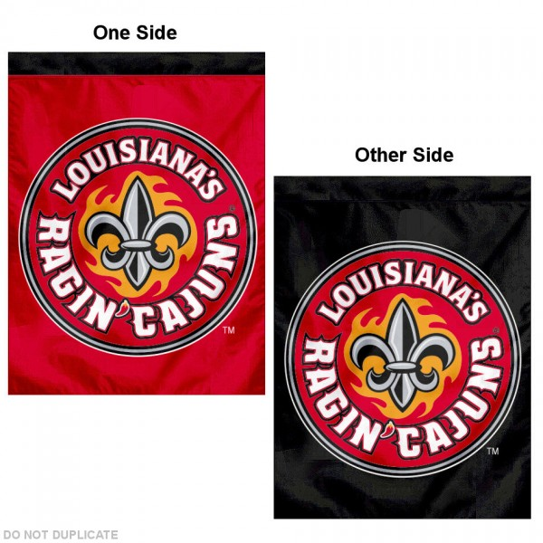 University of Louisiana Lafayette House Flag is a vertical house flag which measures 30x40 inches, is made of 2 ply 100% polyester, offers dye sublimated NCAA team insignias, and has a top pole sleeve to hang vertically. Our University of Louisiana Lafayette House Flag is officially licensed by the selected university and the NCAA