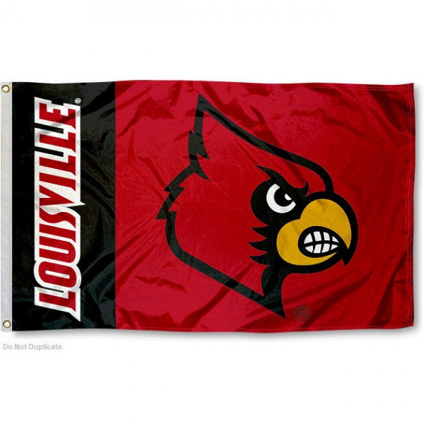 University of Louisville 3x5 Foot Flag measures 3'x5', is made of 100% poly, has quadruple stitched sewing, two metal grommets, and has double sided University of Louisville logos. Our University of Louisville 3x5 Foot Flag is officially licensed by the selected university and the NCAA