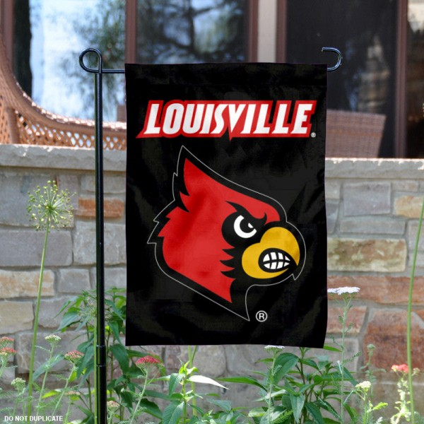 University of Louisville Cardinals Garden Flag is 13x18 inches in size, is made of 2-layer polyester, screen printed University of Louisville athletic logos and lettering. Available with Same Day Express Shipping, Our University of Louisville Cardinals Garden Flag is officially licensed and approved by University of Louisville and the NCAA.