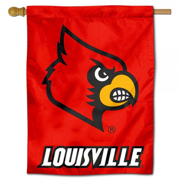 "University of Louisville Decorative Flag is constructed of polyester material, is a vertical house flag, measures 30""x40"", offers screen printed athletic insignias, and has a top pole sleeve to hang vertically. Our University of Louisville Decorative Flag is Officially Licensed by University of Louisville and NCAA."