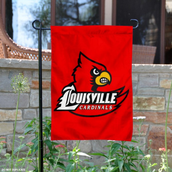University of Louisville Garden Flag measures 13x18 inches, is made of thick polyester, and has screen printed university logos and lettering. Our University of Louisville Garden Flag is officially licensed by the NCAA and university garden flags are perfect for your garden, entranceway, mailbox, or window.