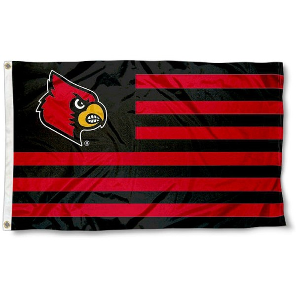 University of Louisville Striped Flag measures 3'x5', is made of polyester, offers double stitched flyends for durability, has two metal grommets, and is viewable from both sides with a reverse image on the opposite side. Our University of Louisville Striped Flag is officially licensed by the selected school university and the NCAA.