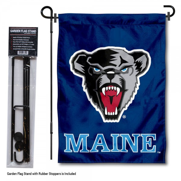 University of Maine Garden Flag and Stand