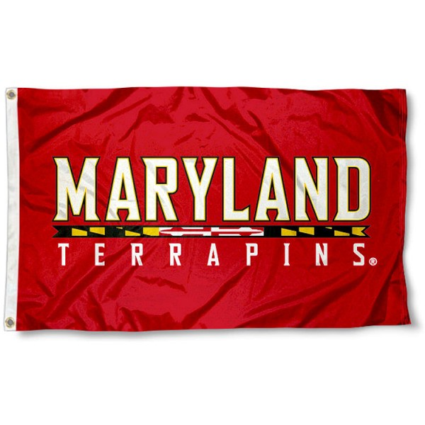 University of Maryland Logo 3x5 Flag measures 3'x5', is made of 100% poly, has quadruple stitched sewing, two metal grommets, and has double sided Team University logos. Our Maryland Terps 3x5 Flag is officially licensed by the selected university and the NCAA.