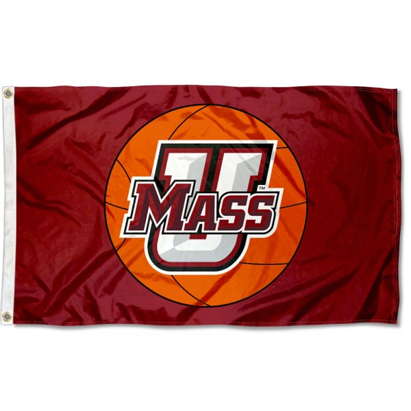 University of Massachusetts Basketball Flag measures 3'x5', is made of 100% poly, has quadruple stitched sewing, two metal grommets, and has double sided Team University logos. Our University of Massachusetts Basketball Flag is officially licensed by the selected university and the NCAA.
