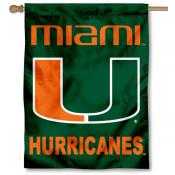 University of Miami Banner Flag