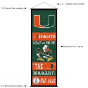 University of Miami Decor and Banner