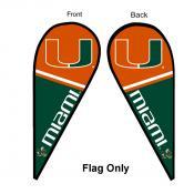 University of Miami Feather Flag
