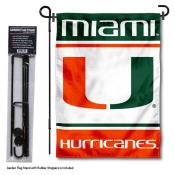 University of Miami Garden Flag and Stand