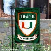 University of Miami Go Hurricanes Shield Garden Flag