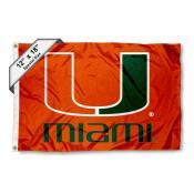 University of Miami Mini Flag