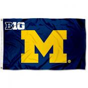 University of Michigan Big 10 Flag