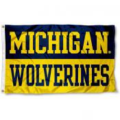 University of Michigan Split Color Flag