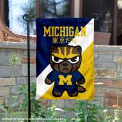 University of Michigan Tokyo Dachi Mascot Yard Flag
