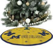 University of Michigan Wolverines Christmas Tree Skirt