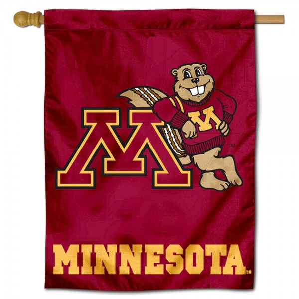 "University of Minnesota Decorative Flag is constructed of polyester material, is a vertical house flag, measures 30""x40"", offers screen printed athletic insignias, and has a top pole sleeve to hang vertically. Our University of Minnesota Decorative Flag is Officially Licensed by University of Minnesota and NCAA."